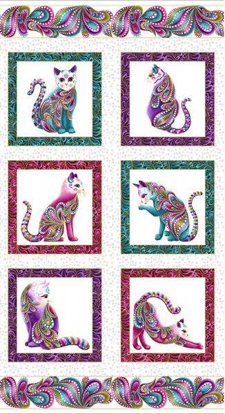 Katzen auf Weiss Cat-i-tude Panel
