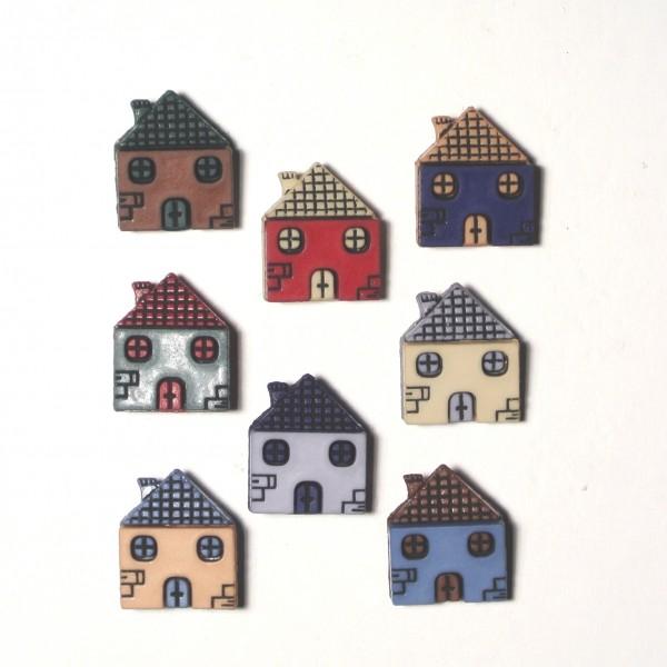 Knöpfe kleine Häuser