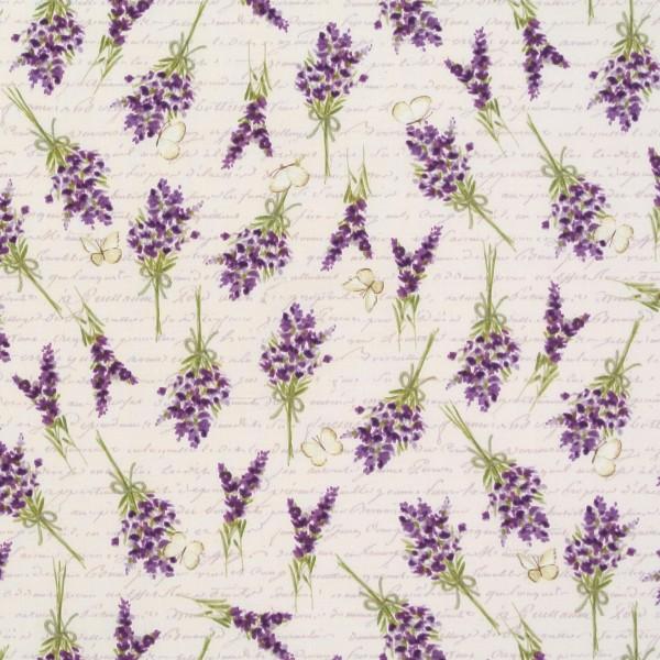 Sweet Lavender Lavendel Blumen und Schrift beige