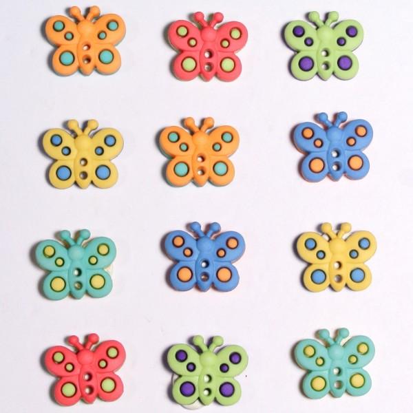Knöpfe Schmetterlinge Butterflies