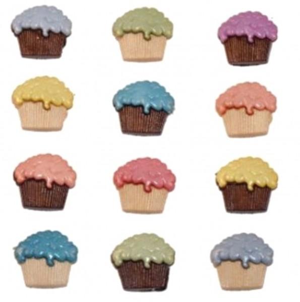 Motivknöpfe Mini Muffins Cupcakes