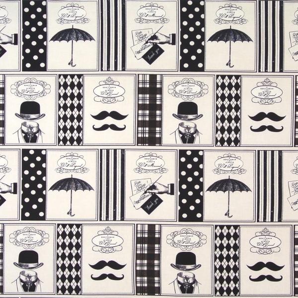SALE Patchworkstoff David Textiles Männer Gentlemen