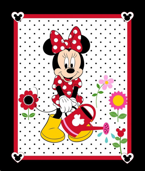 Disney Minnie Mouse Garten Panel