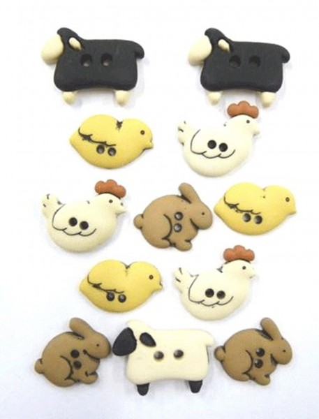 Motivknöpfe 12 Dekoknöpfe kleine Mäuse Käse