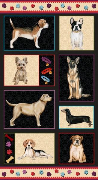 Faithful Friends Hunde Panel