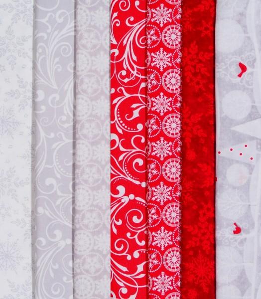 SALE Stoffpaket Weihnachten Holiday Frost 7 Stoffe