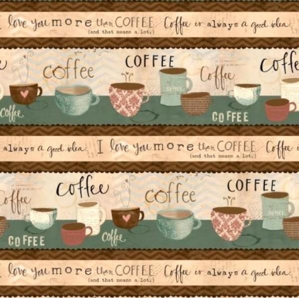 But First Coffee Kaffee Bordüre