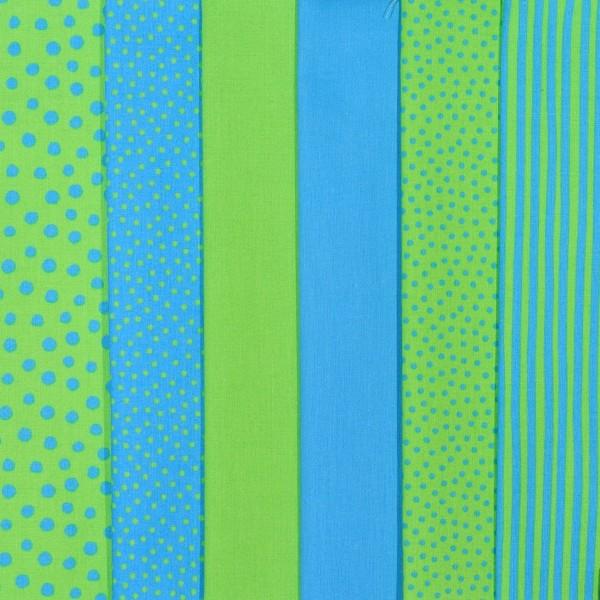 Westfalenstoff Stoffpaket Junge Linie blau-grün