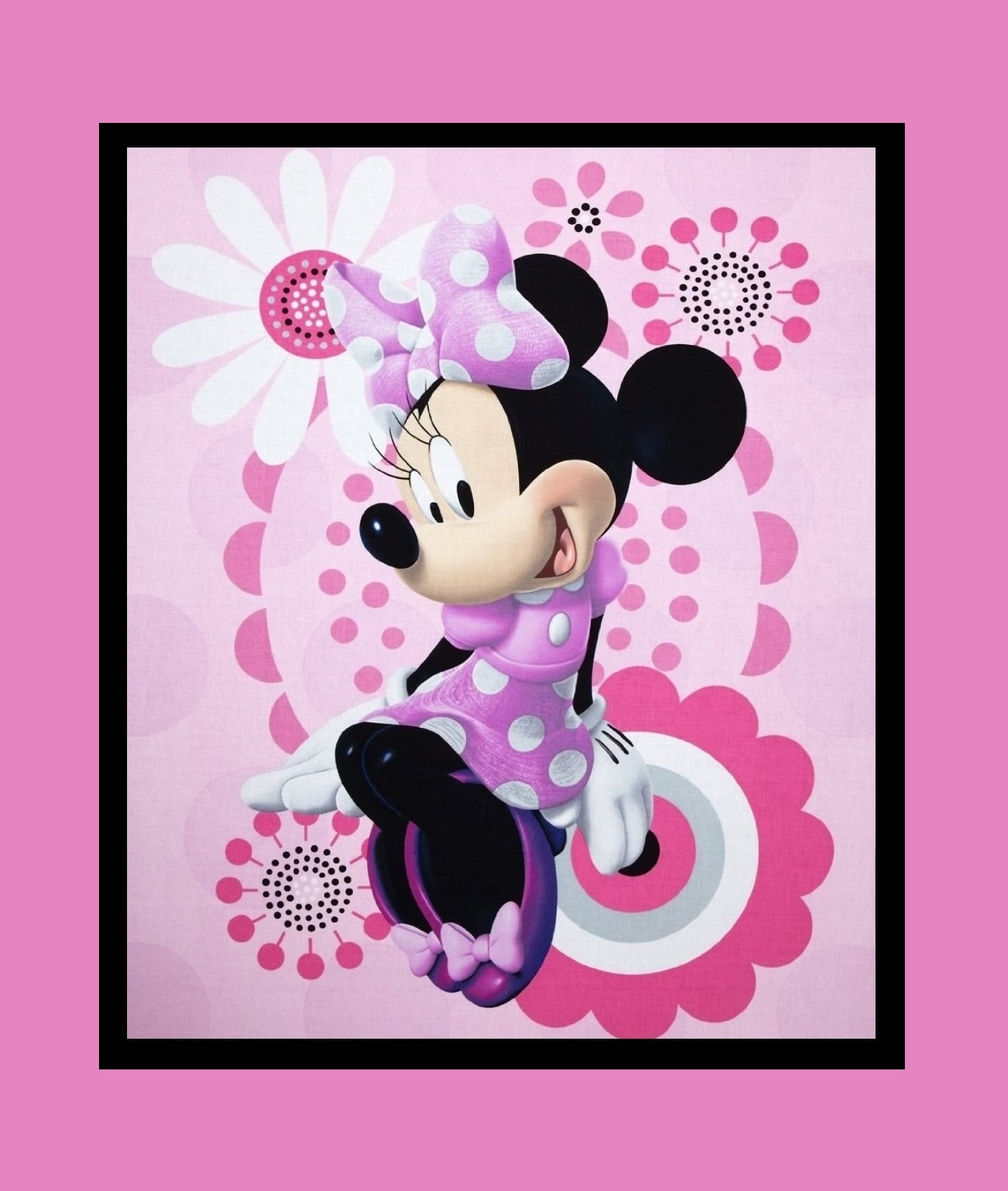 Disney Minnie Mouse rosa-pink Panel | Kinder | Panels ...