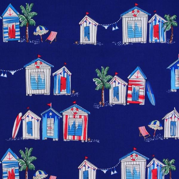 Just Shellin maritime Strandhäuser Strandhütten dunkelblau