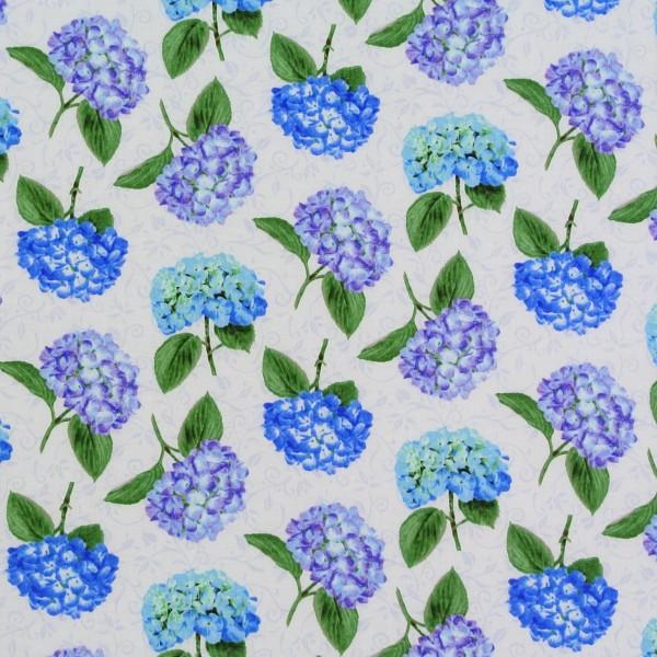 Patchworkstoffe Hortensien Hydrangea Garten Blumen