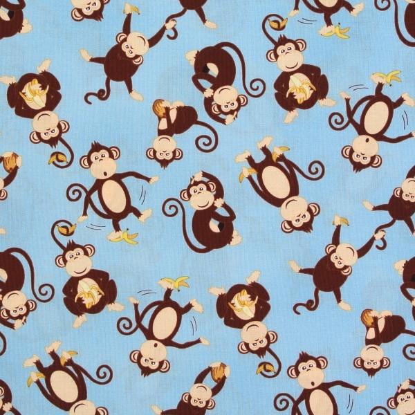 Coconut Grove Affen Äffchen hellblau •