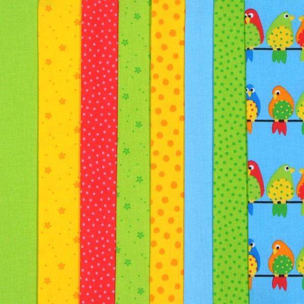 Westfalenstoff Stoffpaket Junge Linie Vögel 8 Stoffe
