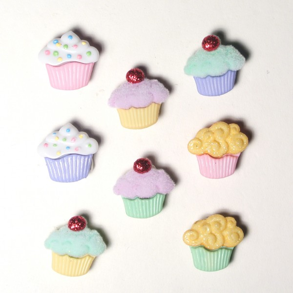 Motivknöpfe Muffins mini