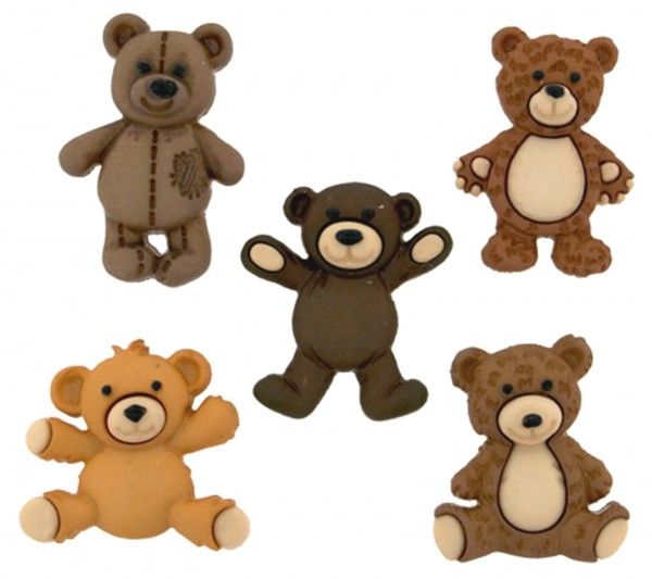 Motivknöpfe 5 Dekoknöpfe Love Bären Kinder