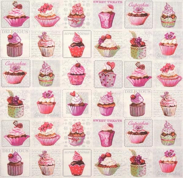 Sonderpreis! Dekostoff Cupcakes Muffins