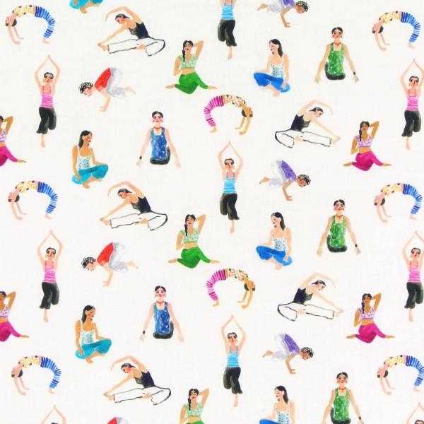Patchworkstoff Yoga Frauen No Place Like Om