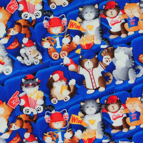 Katzen im Baseballstadion