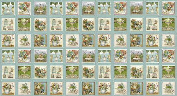 Antique Garden 66 Gartenbilder Panel