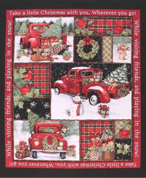 Weihnachten Red Truck Panel