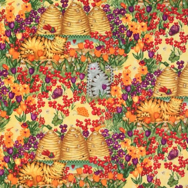 SALE Garden Buzz Bienen Bienenkörbe Katzen Blumen