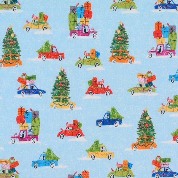 SALE Weihnachten Wonderland Autos blau
