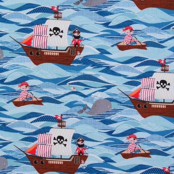 Kleine Piraten Meer Wellen Schiffe •