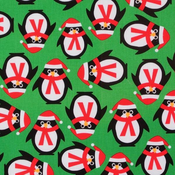 SALE Weihnachten Pinguine Jingle grün Einzelstück