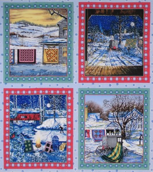 SALE Patchworkstoff Winter Quilts Panel 2 x 53x58 cm