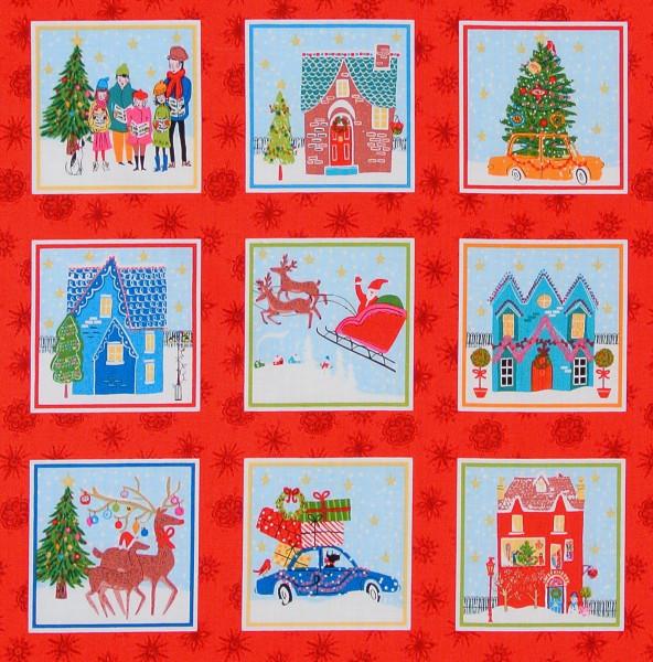 SALE 1 m Weihnachten Wonderland Bilder rot