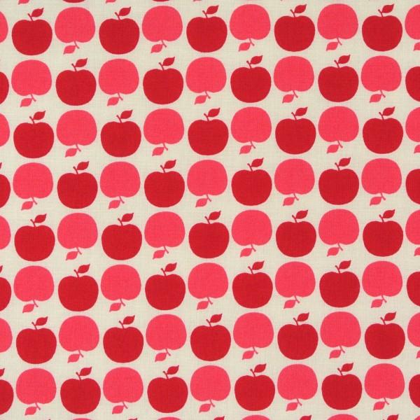 0,70 m Patchworkstoff Retro Äpfel rot