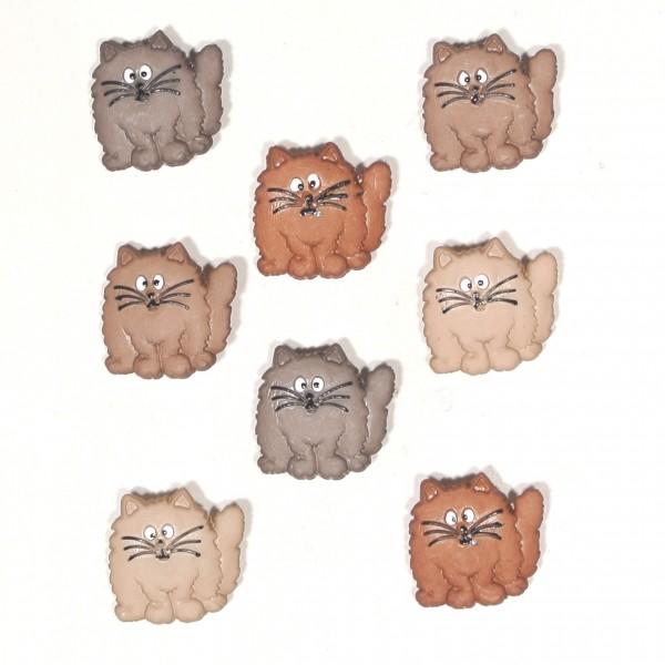 Knöpfe Katze Katzen Fat Cats