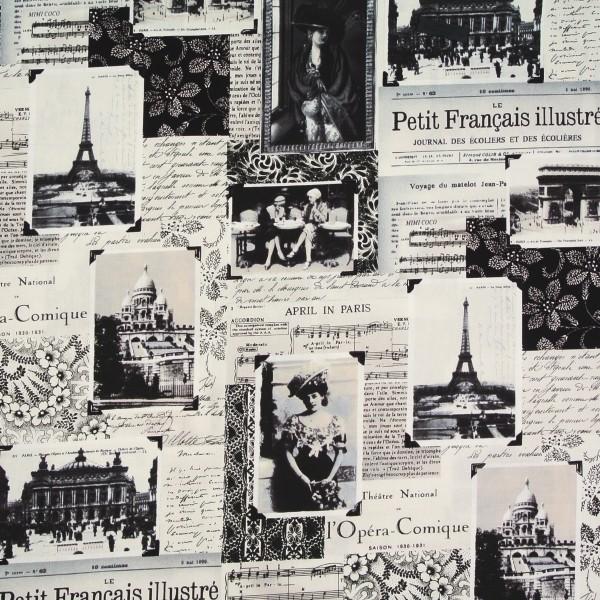Dekostoff April in Paris nostalgische Bilder Reisen