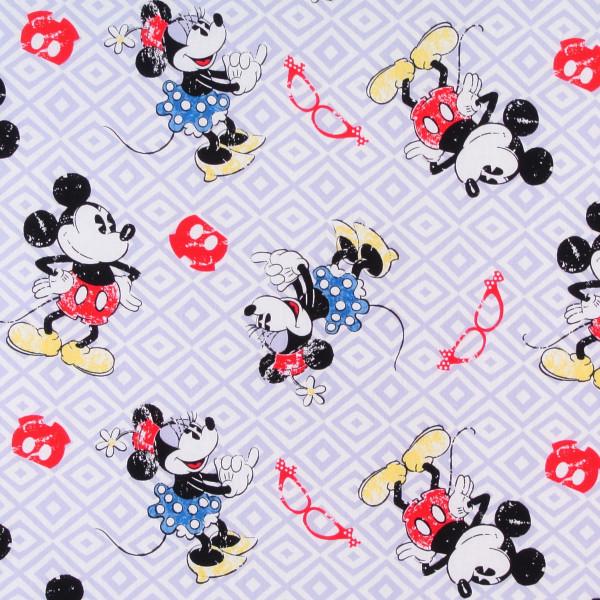 Disney Mickey und Minnie Mouse auf Grau