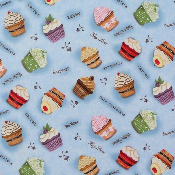 Cupcakery Cupcakes Backen Muffins hellblau