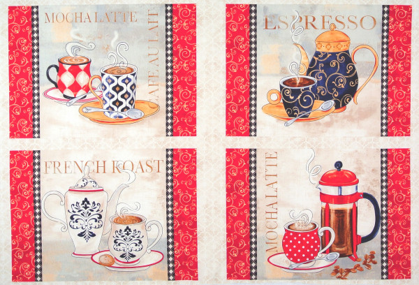 Le Petit Bistro Panel mit 4 Sets