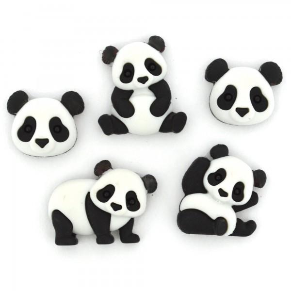Motivknöpfe Knöpfe Dekoknöpfe Pandas Tiere