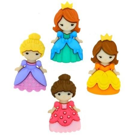 Motivknöpfe 4 Dekoknöpfe Prinzessin Mädchen