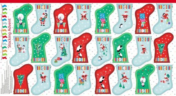 SALE Adventskalender DIY Jolly Santa Stiefelchen bunt