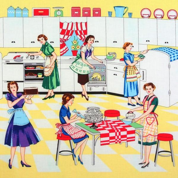 Frauen Haushalt Retro 50er Jahre