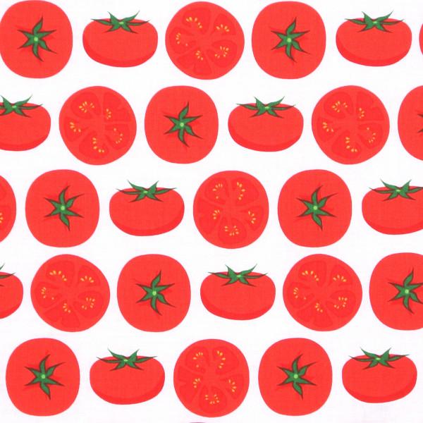 Robert Kaufman Tomaten auf Weiss