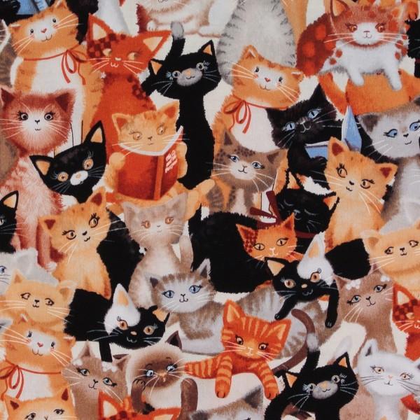 Einzelstück Lesende Katzen Kitty Galore 80 cm •