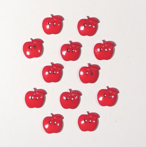 Knöpfe rote Äpfel
