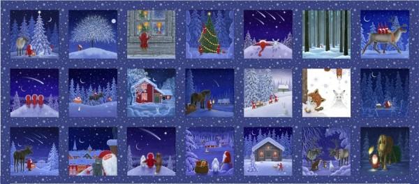 patchworkstoff weihnachten tomte keep believing panel110