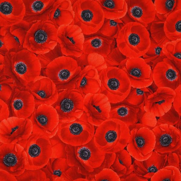 patchworkstoff blumen mohnblumen wild poppy timesless allover rot 30