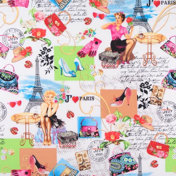 0,75 m Patchworkstoff Paris Pin Up Girls Marilyn