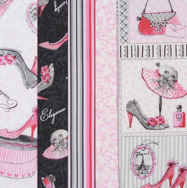 Stoffpaket Frauen Mode Glamour pink