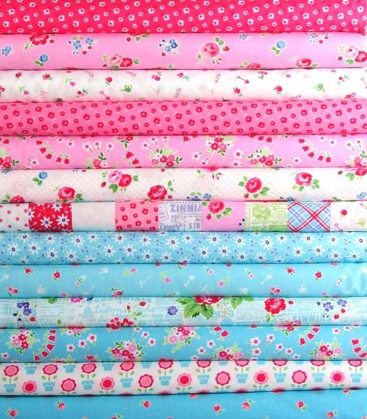 Pam Kitty Garden 13 romantische Stoffe rosa
