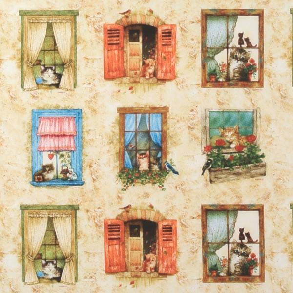 SALE Window Tales Katzen am Fenster Motive