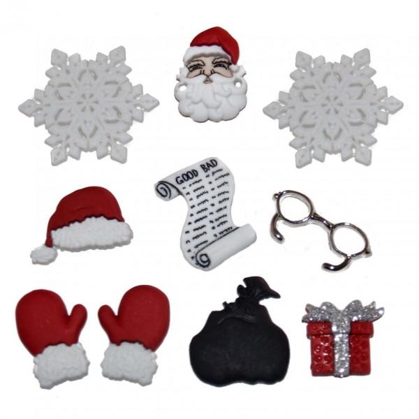 Motivknöpfe Dekoknöpfe Weihnachten Nikolaus
